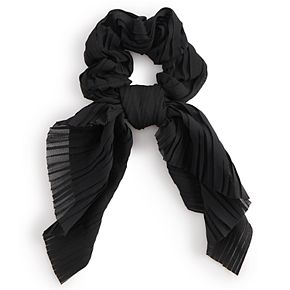 Solid Black Bow Scrunchie