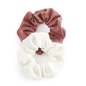 Solid Corduroy Hair Scrunchie Set