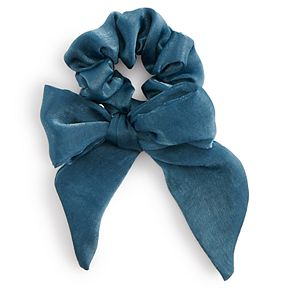 Solid Blue Bow Scrunchie