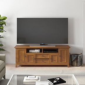 Simpli Home Amherst Solid Wood Transitional TV Media Stand