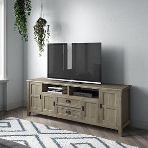Simpli Home Burlington Solid Wood Traditional TV Media Stand - Espresso Brown