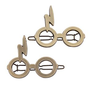 Harry Potter Lightning Bolt Glasses Hair Clip Set