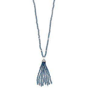 Napier Blue Tassel Y Necklace