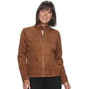 Women's Apt. 9® Suede Zip-up Jacket