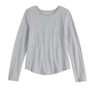 Girls 4-20 & Plus Size SO® Essential Long Sleeve Tee