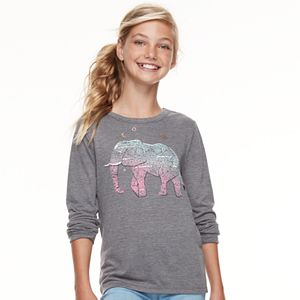 Girls 7-16 Mudd Long Sleeve Graphic Tee