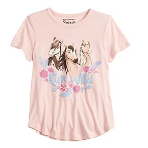 "Girls 7-16 DreamWorks Spirit ""Run Wild"" Graphic Tee"