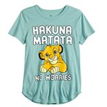 "Girls 7-16 Disney's The Lion King ""Hakuna Matata"" Graphic Tee"