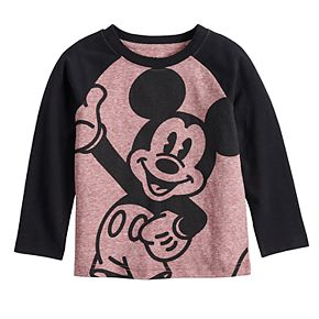 Toddler Boy Disney's Mickey Mouse Smiling Mickey Long Raglan Sleeve Tee from Jumping Beans®