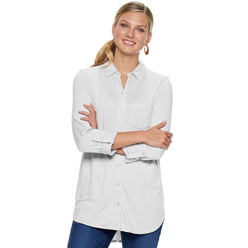 Women's Apt. 9® Button Up High Slit Tunic