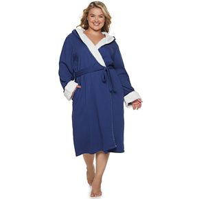 Plus Size SONOMA Goods for Life? Sherpa-Trimmed Waffle Robe