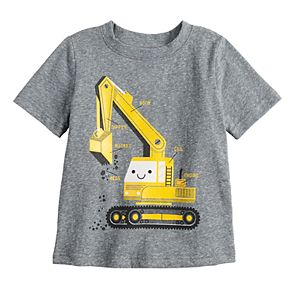 Baby Boy Jumping Beans® Construction Heather Tee