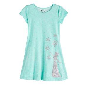 Disney's Frozen Elsa Girls 4-12 Glittery Graphic Dress by Jumping Beans®