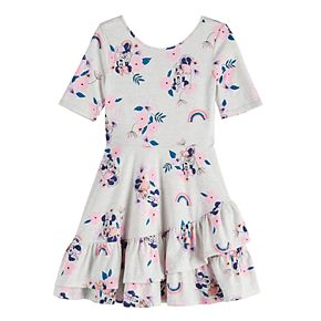 Disney's Minnie Mouse Girls 4-12 Ruffled Print Dress by Jumping Beans®