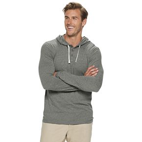 Big & Tall SONOMA Goods for Life? Slim Henley Hoodie