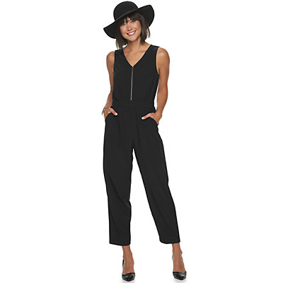 Women's Apt. 9® Sleeveless Zipper Jumpsuit