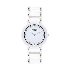 BERING Women's White Ceramic Link Watch - 11435-754
