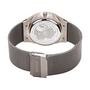 BERING Men's Slim Solar Stainless Steel Mesh Watch - 14440-077