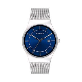 BERING Men's Classic Stainless Steel Mesh Watch - 11938-003