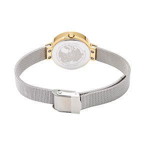BERING Women's Slim Solar Two Tone Mesh Watch - 14426-010
