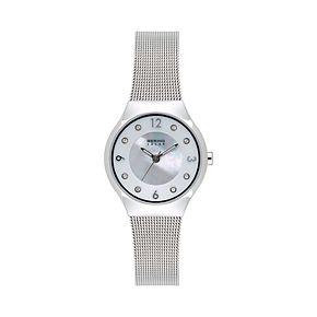 BERING Women's Slim Solar Stainless Steel Mesh Watch - 14427-004