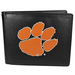 Men's Clemson Tigers Leather Bi-Fold Wallet