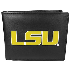 Men's LSU Tigers Leather Bi-Fold Wallet