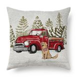 St. Nicholas Square® Holiday Truck with Dog Pillow
