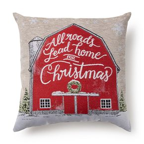 St. Nicholas Square® Holiday Barn Tapestry Pillow
