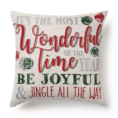 St. Nicholas Square® Holiday Word Pillow by St. Nicholas Square