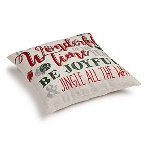 St. Nicholas Square® Holiday Word Pillow