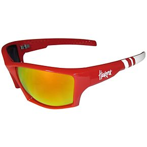 Adult Nebraska Cornhuskers Edge Wrap Sunglasses