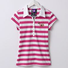 Abbey Dawn Striped Lurex Polo