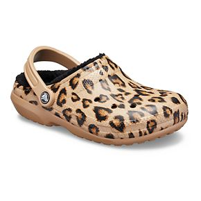 Crocs Classic Glitter Women's Printed Lined Clogs