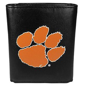 Men's Clemson Tigers Leather Tri-Fold Wallet
