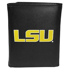Men's LSU Tigers Leather Tri-Fold Wallet