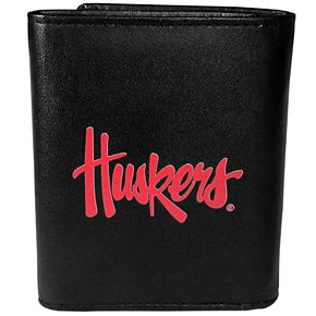 Men's Nebraska Cornhuskers Leather Tri-Fold Wallet