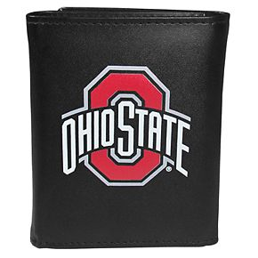 Men's Ohio State Buckeyes Leather Tri-Fold Wallet
