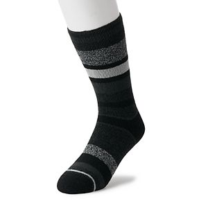 Men's Heat Holders LITE Thermal Stripe Crew Socks
