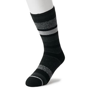 Men's Heat Holders LITE Thermal Stripe Crew Socks