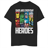 Boys 8-20 Marvel Everyday Hero Dad Graphic Tee