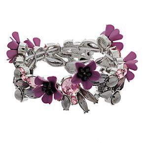 Simply Vera Vera Wang Flower Stretch Bracelet