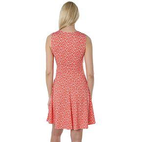 Petite Hudson & Harper Sleeveless Faux Wrap Dress