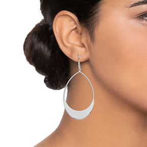 Women's Simply Vera Vera Wang Teardrop Hoop Earring