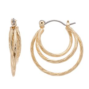 LC Lauren Conrad Twisted Hoop Earrings