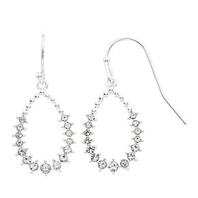 LC Lauren Conrad Crystal Nickel Free Teardrop Earrings
