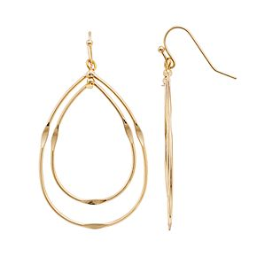 LC Lauren Conrad Nested Nickel Free Teardrop Earrings