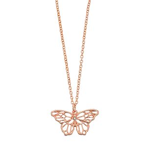 LC Lauren Conrad Rose Gold Tone Butterfly Pendant
