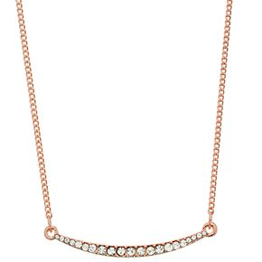 LC Lauren Conrad Simulated Crystal Curved Bar Necklace