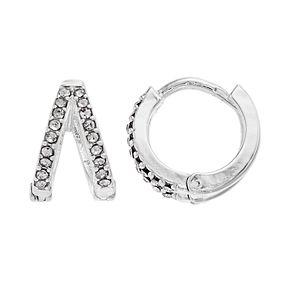 LC Lauren Conrad Split Nickel Free Huggie Hoop Earrings
